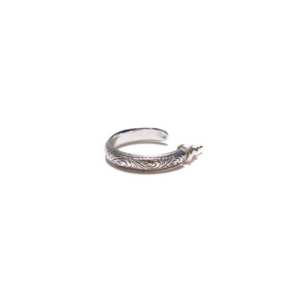 画像2: ANTIDOTE BUYERS CLUB/Engraved Hoop Earring(Single)(シルバー)[フープイヤリング]