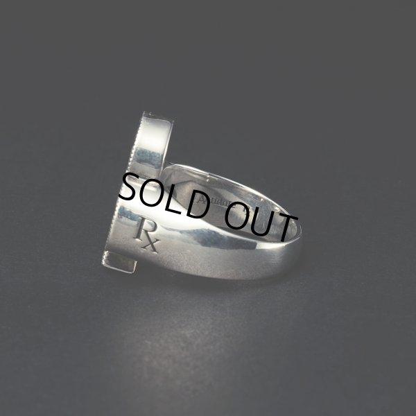 画像2: ANTIDOTE BUYERS CLUB/Engraved Club Ring(With Stone)(シルバー)[ピンキーリング]
