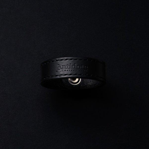 画像2: ANTIDOTE BUYERS CLUB/Leather Wristband(ブラック)[レザーリストバンド]