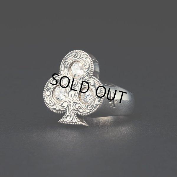 画像1: ANTIDOTE BUYERS CLUB/Engraved Club Ring(With Stone)(シルバー)[ピンキーリング]