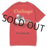 CHALLENGER/RIDE ON BURGER TEE(レッド)[プリントT-19春夏]