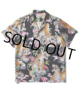 WACKO MARIA/TIM LEHI / S/S HAWAIIAN SHIRT(TYPE-2)(ブラック)[アロハシャツ-19春夏]