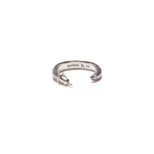 他の写真3: ANTIDOTE BUYERS CLUB/Engraved Hoop Earring(Single)(シルバー)[フープイヤリング]