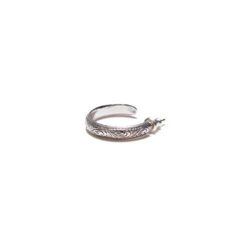 他の写真2: ANTIDOTE BUYERS CLUB/Engraved Hoop Earring(Single)(シルバー)[フープイヤリング]