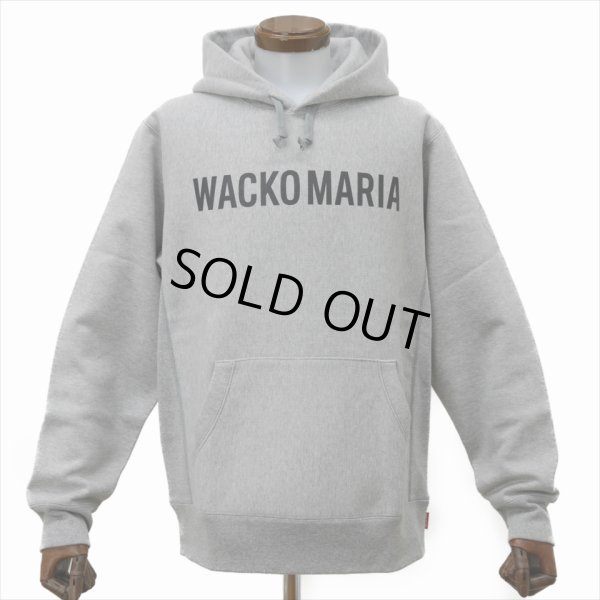 画像1: WACKO MARIA/HEAVY WEIGHT PULLOVER HOODED SWEAT SHIRT(TYPE-2)(グレー)[プルオーバーパーカー-20春夏]
