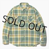 CALEE/L/S Check shirt(グリーン) 【30%OFF】[チェックシャツ-20春夏]