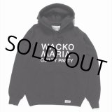WACKO MARIA/WASHED HEAVY WEIGHT PULLOVER HOODED SWEAT SHIRT(TYPE-2)(ブラック)[プルオーバーパーカー-20春夏]