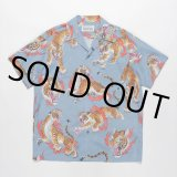 WACKO MARIA/TIM LEHI / S/S HAWAIIAN SHIRT(TYPE-2)(ブルー)[アロハシャツ-20春夏]