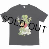 WACKO MARIA/RAT FINK / TIMLEHI / WASHED HEAVY WEIGHT CREW NECK COLOR T-SHIRT(TYPE-1)(ブラック)[プリントT-20秋冬]