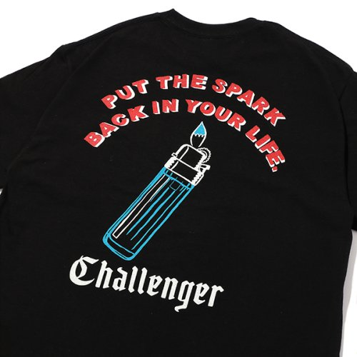 他の写真3: CHALLENGER/PUT THE SPARK TEE(ブラック)[プリントT-21春夏]