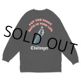 CHALLENGER/PUT THE SPARK L/S TEE(ブラック)[プリント長袖T-21春夏]