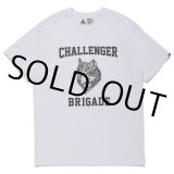 CHALLENGER/WOLF COLLEGE TEE(ホワイト)[プリントT-21春夏]