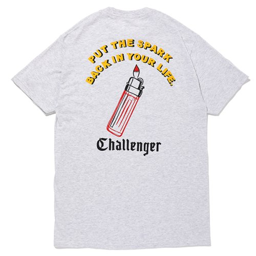 他の写真2: CHALLENGER/PUT THE SPARK TEE(アッシュグレー)[プリントT-21春夏]