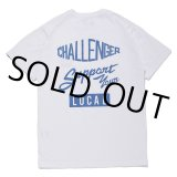 CHALLENGER/SUPPORT TEE(ホワイト)[プリントT-21春夏]