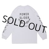CHALLENGER/POWER SLIDER L/S TEE(ホワイト)[プリント長袖T-21春夏]