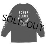 CHALLENGER/POWER SLIDER L/S TEE(ブラック)[プリント長袖T-21春夏]