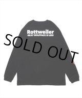 ROTTWEILER/90 R.W LS TEE(ブラック) 【30%OFF】[プリント長袖T-21春夏]