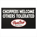 "PORKCHOP/WELCOME RUBBER MAT ""CHOPPERS""(ブラック)[ラバーマット-20秋冬]"
