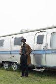 """画像6: DAIRIKU/""""Jimi Hendrix"""" Long Safari Jacket(ソイル)[ロングサファリJKT-21春夏]"""