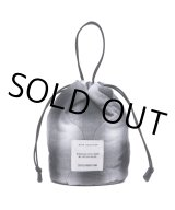 COOTIE/Ombre Check Quilting Drawstring Bag(ブラック/オフホワイト)[ドローストリングバッグ-21春夏]
