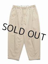 COOTIE/T/C 2 Tuck Easy Pants(ベージュ)[T/C 2タックイージーパンツ-21春夏]