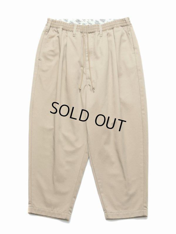 画像1: COOTIE/T/C 2 Tuck Easy Pants(ベージュ)[T/C 2タックイージーパンツ-21春夏]