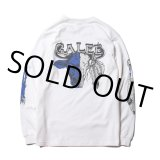 CALEE/New Year Buffalo print L/S tee(ホワイト) 【30%OFF】[プリント長袖T-21春夏]
