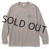 CALEE/Drop shoulder L/S t-shirt(グレー)[ドロップショルダー長袖T-21春夏]