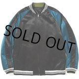 CALEE/Reversible satin souvenir jacket(ブラック)[リバーシブルスーベニアJKT-21春夏]
