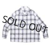 COOTIE/Ombre Check Open Collar Shirt(オフホワイト/ブラック)[オンブレチェックオープンカラーシャツ-21春夏]