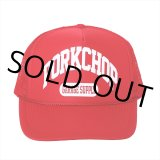 PORKCHOP/COLLEGE CAP(レッド)[メッシュキャップ-21春夏]