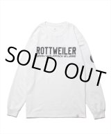 ROTTWEILER/CLASSIC.LO. L/S TEE(ホワイト) 【30%OFF】[プリント長袖T-21春夏]