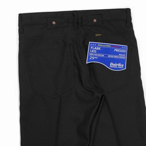 """他の写真3: DAIRIKU/""""Flare"""" Flasher Pressed Pants(ブラック)[""""フレア""""スタプレパンツ-21春夏]"""