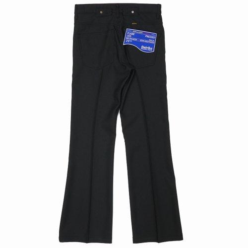 """他の写真2: DAIRIKU/""""Flare"""" Flasher Pressed Pants(ブラック)[""""フレア""""スタプレパンツ-21春夏]"""