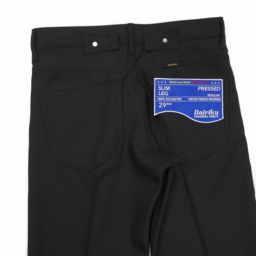 """他の写真3: DAIRIKU/""""Slim"""" Flasher Pressed Pants(ブラック)[""""スリム""""スタプレパンツ-21春夏]"""