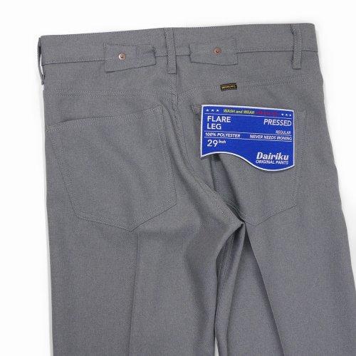 """他の写真3: DAIRIKU/""""Flare"""" Flasher Pressed Pants(コンクリート)[""""フレア""""スタプレパンツ-21春夏]"""