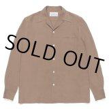 WACKO MARIA/50'S SHIRT L/S(TYPE-1)(ブラウン)[50'Sシャツ-21春夏]