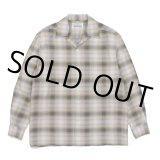 WACKO MARIA/OMBRE CHECK OPEN COLLAR SHIRT(イエロー)[オンブレチェックオープンカラーシャツ-21春夏]