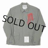 DAIRIKU/Wool Ripstop Fatigue Jacket(カーキ) 【30%OFF】[リップストップファティーグJKT-21春夏]
