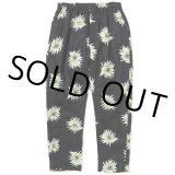 CALEE/Allover flower pattern linen tapered pants(ブラック)[リネンテーパードパンツ-21春夏]