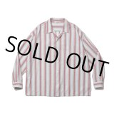 COOTIE/Snake Stripe Open-Neck L/S Shirt(ストライプ)[スネークストライプシャツ-21春夏]