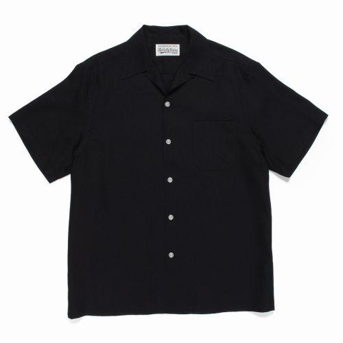 他の写真1: WACKO MARIA/50'S SHIRT S/S(TYPE-1)(ブラック)[50'Sシャツ-21春夏]