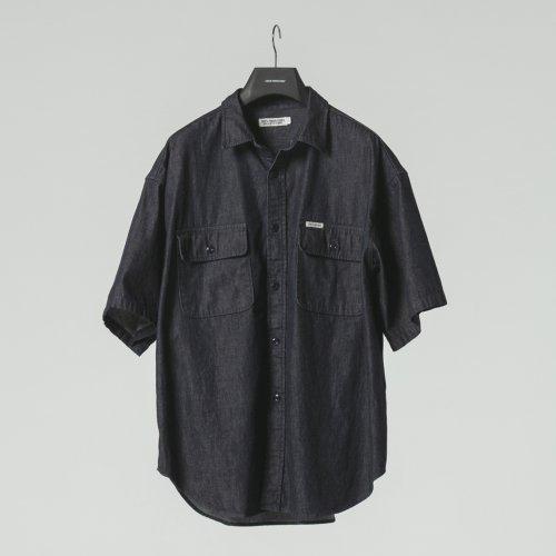 他の写真1: COOTIE/Error Fit Denim Work S/S Shirt(インディゴ)[エラーフィットデニムワークシャツ-21春夏]