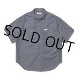 COOTIE/Error Fit Denim Work S/S Shirt(インディゴ)[エラーフィットデニムワークシャツ-21春夏]