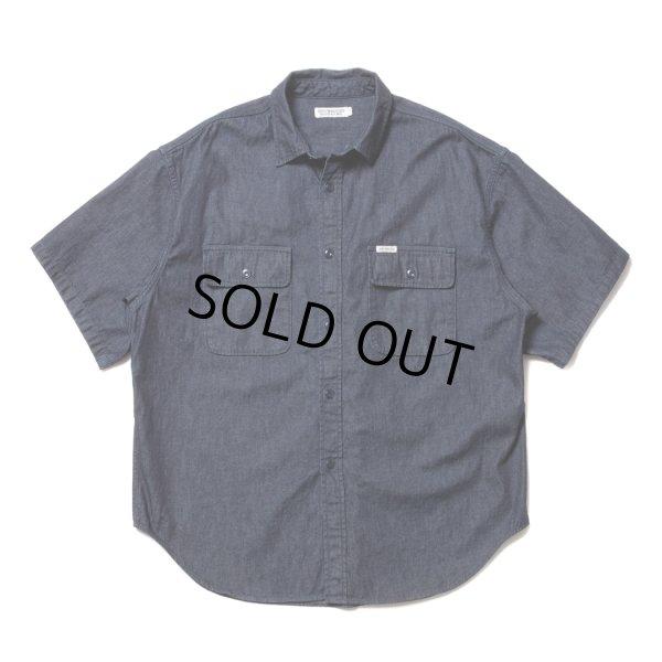 画像1: COOTIE/Error Fit Denim Work S/S Shirt(インディゴ)[エラーフィットデニムワークシャツ-21春夏]