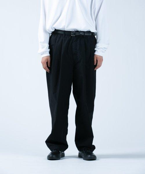 他の写真1: COOTIE/Garment Dyed 2 Tuck Easy Pants(ブラック)[2タックイージーパンツ-21春夏]