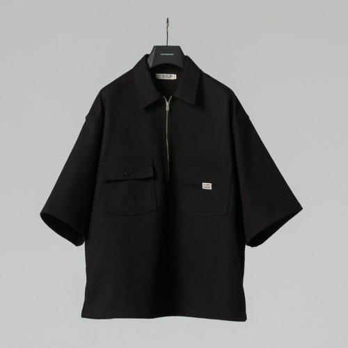 他の写真1: COOTIE/Kersey Pullover S/S Work Jacket(ブラック)[プルオーバーワークJKT-21春夏]