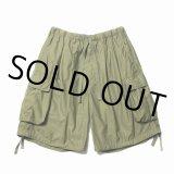 COOTIE/Back Satin Error Fit Cargo Easy Shorts(オリーブ)[エラーフィットカーゴイージーショーツ-21春夏]