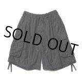 COOTIE/Back Satin Error Fit Cargo Easy Shorts(ブラック)[エラーフィットカーゴイージーショーツ-21春夏]