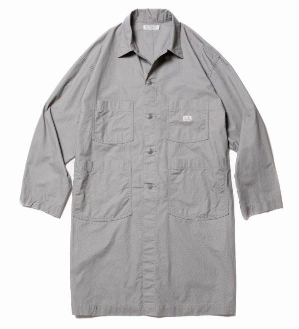 画像1: COOTIE/Ripstop Shop Coat(グレー)[リップストップショップコート-21春夏]